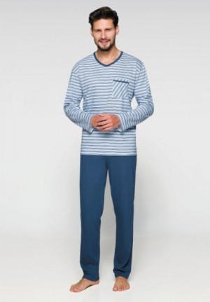 Regina 575 Pánské pyžamo plus size XXL modrá