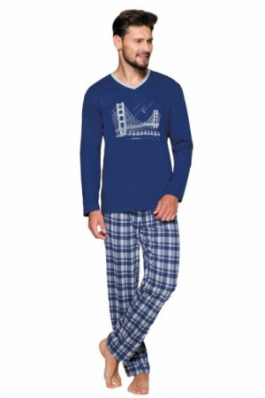 Regina 576 Pánské pyžamo M tmavě modrá