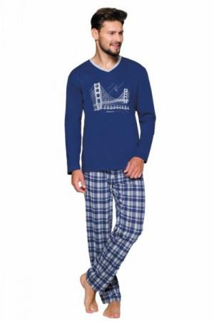 Regina 576 Pánské pyžamo 2XL XXL tmavě modrá