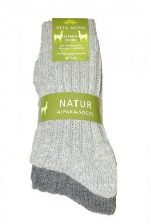 Ulpio Vita Nova Natur Alpaka 31705 A'2 Pánské ponožky 39-42 mix barva