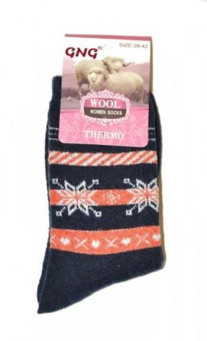 Ulpio GNG 3001 Thermo Wool Dámské ponožky 39-42 černá
