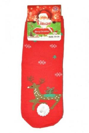 Ulpio Xintao 8810 Christmas Dámské ponožky 33-35 červená