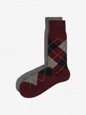 Ponožky 2 páry Polo Ralph Lauren Šedá