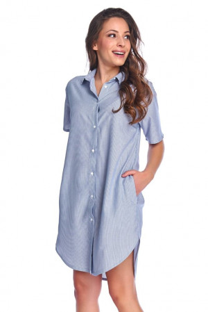 Dámská noční košile Gabi pruhovaná modrá