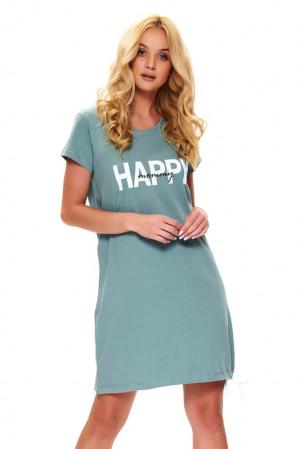 Mateřská noční košile Happy mommy mineral tyrkysová