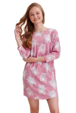 Dívčí košilka Molly starorůžová medvědi růžová 146