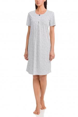 Dámská noční košile 12371-180 bílomodrá - Vamp bílo-modrá
