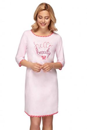 Dámská noční košile Bella beauty růžová růžová