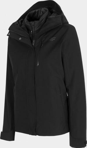 Dámská bunda 3v1 4F KUDT200 Černá Černá