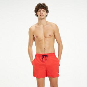 Pánské šortky UW0UM01416-669 červená - Tommy Hilfiger červená