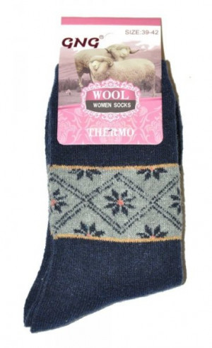 Ulpio GNG 3336 Thermo Wool Dámské ponožky 39-42 černá