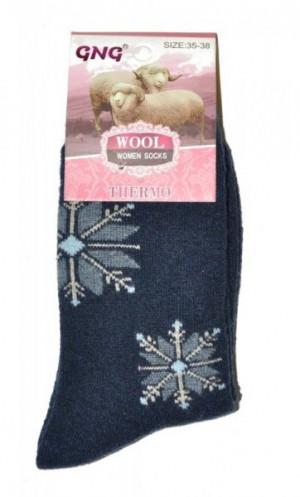 Ulpio GNG 3023 Thermo Wool Dámské ponožky 39-42 černá