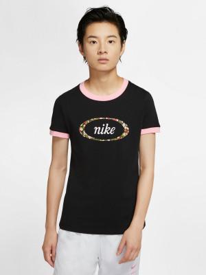 Sportswear Femme Ringer Triko Nike Černá