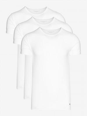 Spodní triko 3 ks Tommy Hilfiger Bílá