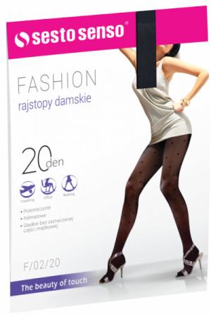Sesto Senso Fashion 20 DEN F/02/20 Punčochové kalhoty 4 černá