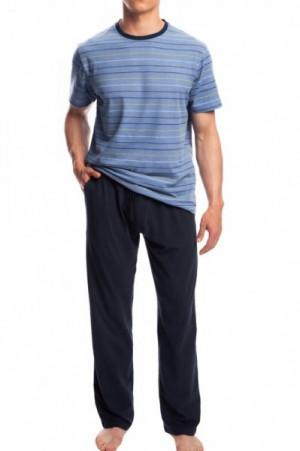 Atlantic NMP-336 modré Pánské pyžamo XXL tmavě modrá