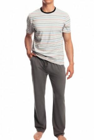 Atlantic NMP-336 šedé Pánské pyžamo XXL  šedá