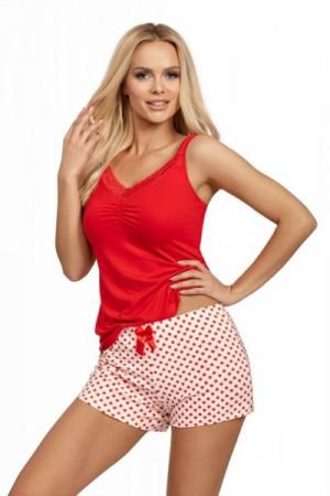 Donna Ester 1/2 Dámské pyžamo XL červená/vzor
