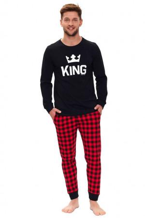 Pánské pyžamo King černé černá