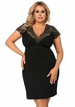 Noční košilka Donna Tess 3XL Černá