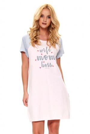 Mateřská noční košile Love mom růžová růžová
