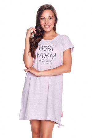 Mateřská noční košile Best mom růžový melír růžová