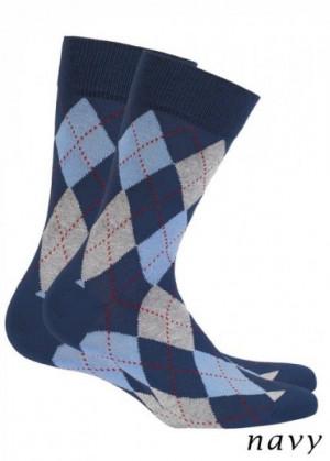 Wola Perfect Man W491 - Navy Pánské ponožky 39/41 navy