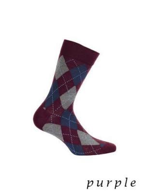 Wola Perfect Man W491 - Purple Pánské ponožky 42/44 purple