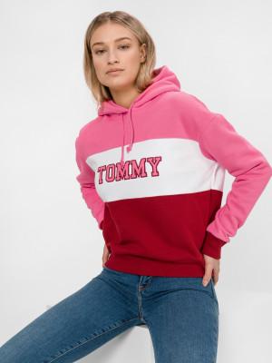 Mikina Tommy Jeans Růžová