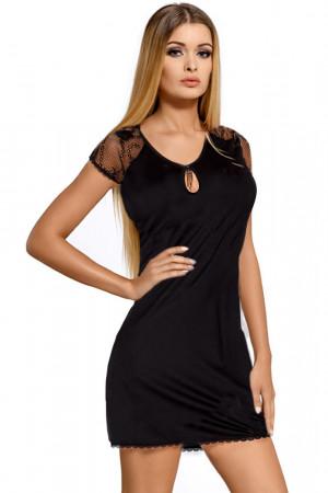 Luxusní noční košilka Hillary černá černá