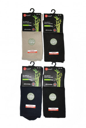 Pánské i dámské zdravotní ponožky Bamboo line netlačící Art.015 - Terjax bílá 36/38
