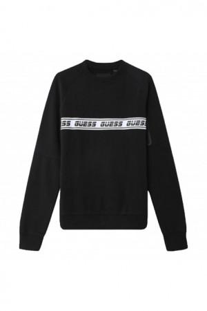 Pánská mikina U0BA36FL02J - JBLK černá - Guess černá