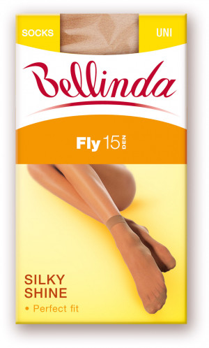 Dámské silonkové ponožky FLY SOCKS 15 DEN - BELLINDA bronze uni