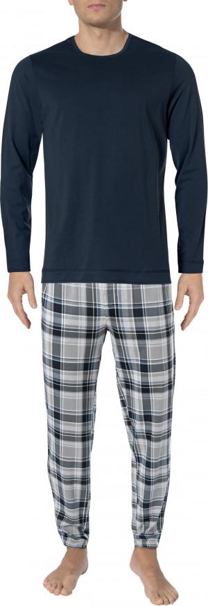 Pánské pyžamo 500002-477 1/1 Knit modrošedá - Jockey tm.modrá-šedá