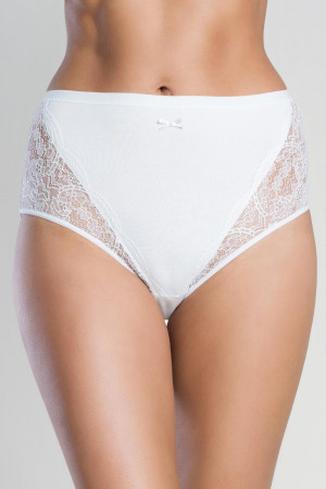 Dámské kalhotky Italian Fashion Wiktoria maxi bílá l