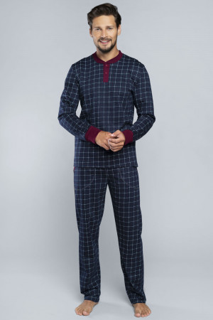 Pánské pyžamo Italian Fashion Osvald tmavomodrá m