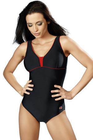 Jednodílné plavky gWINNER Anika I černo-červená