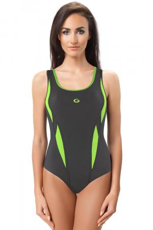 Jednodílné plavky gWINNER Aqua II tm.šedá-zelená