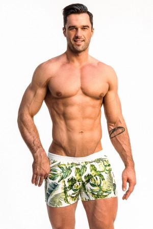 Pánské plavkové šortky Alpha Male Playo Palm okrová/zelená xl