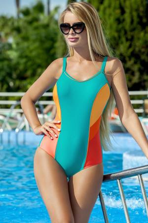 Dámské jednodílné plavky Ewlon Perla fosforová-oranžová