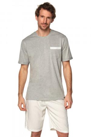 Pánské pyžamo Rossli SAM-PY-188 II šedá l