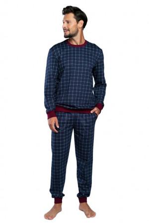Pánské pyžamo Blažej tmavě modré modrá