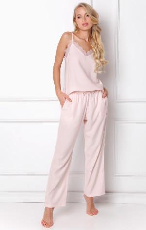 Dámské pyžamo Danny Long -Aruelle pudrovo-růžová