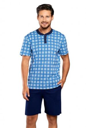 Pánské pyžamo Serafin modré modrá