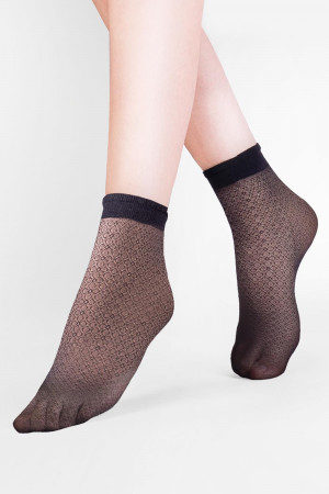 Dámské ponožky Gabriella Flo Code 696 nero uni