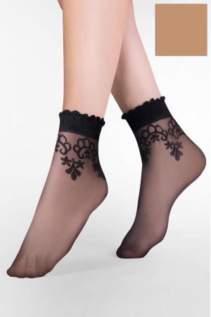 Dámské ponožky Gabriella Bea Code 697 béžová uni