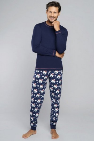 Italian Fashion Balu dl.r. dl.k. Pánské pyžamo M tmavě modrá/tisk