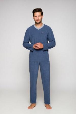 Regina 533 Pánské pyžamo plus size XXL tmavě šedá melanž
