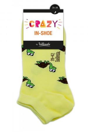 Barevné ponožky CRAZY IN-SHOE SOCKS 3 ks - BELLINDA - tvary 35-38