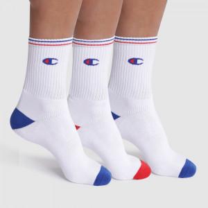Sportovní ponožky CREW SOCKS PERFORMANCE 3 ks - CHAMPION - bílé 39-42